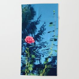 Rose Ripple Reflection Beach Towel