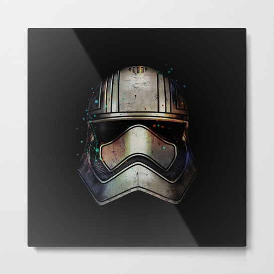 Captain Phasma Shadow Metal Print