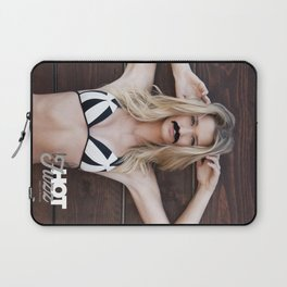Mustache Movember Wood from Hot Fuzz Babes in Mustache Laptop Sleeve
