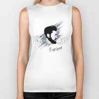 explore Biker Tanks featuring Explore by Polina Kovaleva