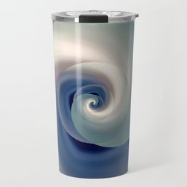 whirlwind abstract 3D digital art Travel Mug