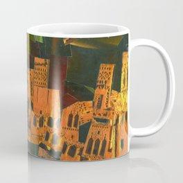 """Green Sky"" / Ciel vert / atypic art - Collage by WHITEECO Ecologic design Coffee Mug"