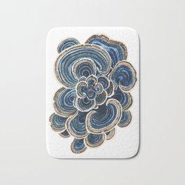 Blue Trametes Mushroom Bath Mat