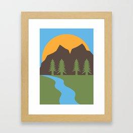 Hand Drawn PNW Illustration Framed Art Print