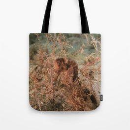 Brown Seahorse Tote Bag