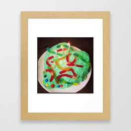 Gummy Worm Delight Framed Art Print