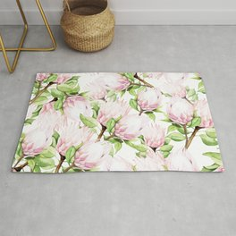 Proteas in watercolours Rug