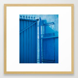 blue palette Framed Art Print