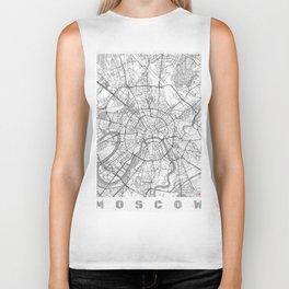 Moscow Map Line Biker Tank