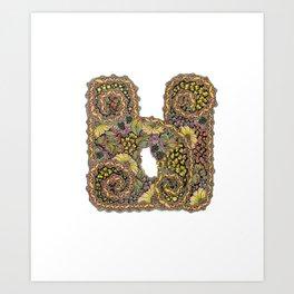 Cyrillic letter Ы Art Print