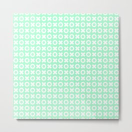 XOXO ((seafoam green)) Metal Print