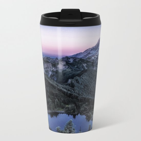 Mountain and Full Moon Metal Travel Mug