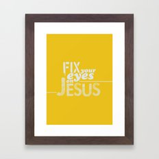 Hebrews 12:1-3 Framed Art Print