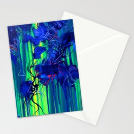 On The Broken Road Between Reality And Truth Stationery Cards
