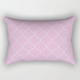 Pink Lavender Quatrefoil Rectangular Pillow