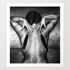 Light of the Dark Black Night Art Print