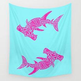 Nancy's Hot Pink Tribal Hammerhead Shark Wall Tapestry
