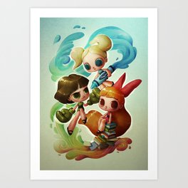 Powerpuff Girls (re-imagined) Art Print