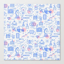 The fans pattern Canvas Print