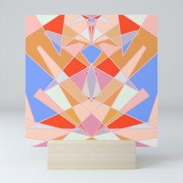 Flat Geometric no.35 Shapes and Layers Mini Art Print