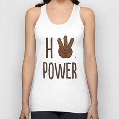 HiiiPower (w/text) : Chocolate Unisex Tank Top
