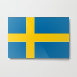 Flag of Sweden - Authentic (High Quality Image) Metal Print