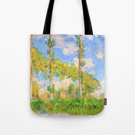12,000pixel-500dpi - Claude Monet - Poplars in the Sun - Digital Remastered Edition Tote Bag