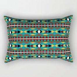 Navajo Teal Pattern Art Rectangular Pillow