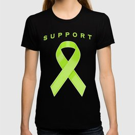 Lime Green Awareness Ribbon T-shirt