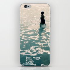 Lady in swimming pool iPhone & iPod Skin
