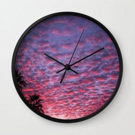 AZ Sunset on a Cloudy Day Wall Clock