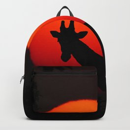 Giraffe in the Sunset - Abstract Art Photography Backpack