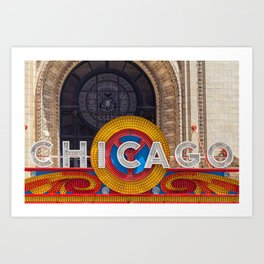 Chicago Neon Sign Art Print