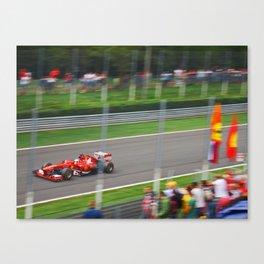 Fernando Alonso - 2013 Gran Premio d'Italia Canvas Print