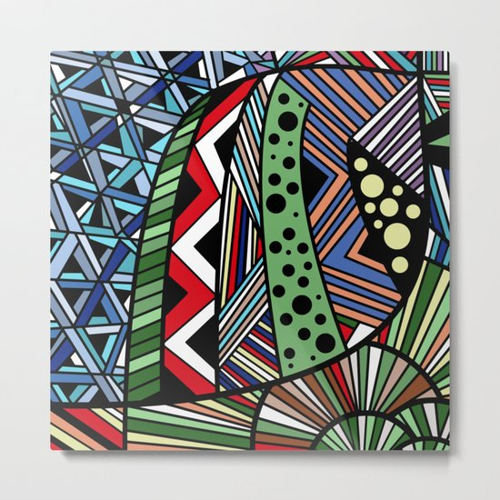 IT'S RAINING COLORS! (abstract tribal) Metal Print