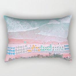 aerial beach I Rectangular Pillow