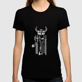 Viking sword axe crown T-shirt