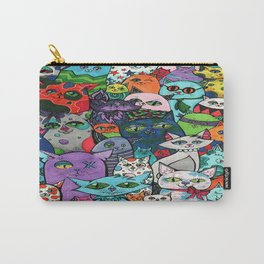 Crazy Cats Color  Carry-All Pouch