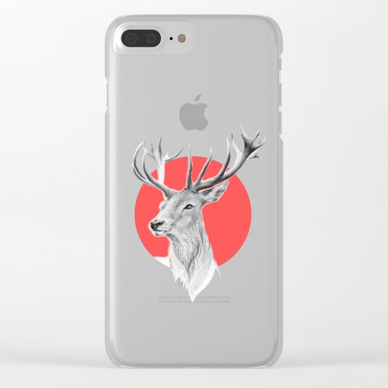 Deer   red Clear iPhone Case