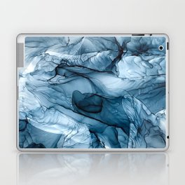Churning Blue Ocean Waves Abstract Painting Laptop & iPad Skin