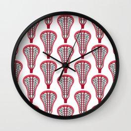 Girls'/Women's Lacrosse Sticks - Red Wall Clock