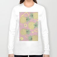pineapples Long Sleeve T-shirts featuring Pineapples by homotrippin