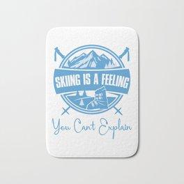 Skiing Is A Feeling You Cant Explain wb Bath Mat