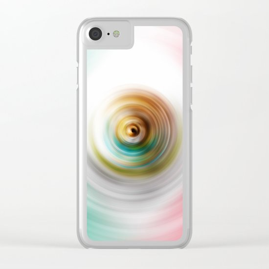 Green, White and Red Swirl Clear iPhone Case