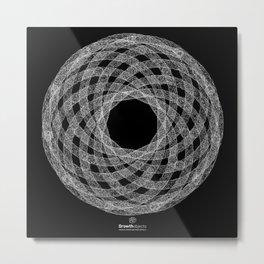 GEOMETRIC NATURE: HELIX b/w Metal Print