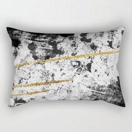 Gilded Grit Light Rectangular Pillow