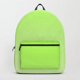 Neon green gradient, Ombre. Backpack