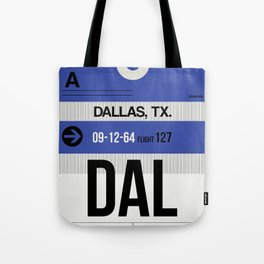 DAL Dallas Luggage Tag 1 Tote Bag