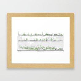 Living comunity blueprints Framed Art Print