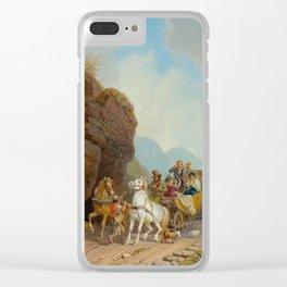 BÜRKEL, HEINRICH (Pirmasens 1802 - 1869 Munich) The coach ambush. Clear iPhone Case